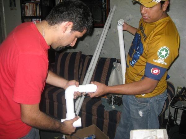 pegando tuberia