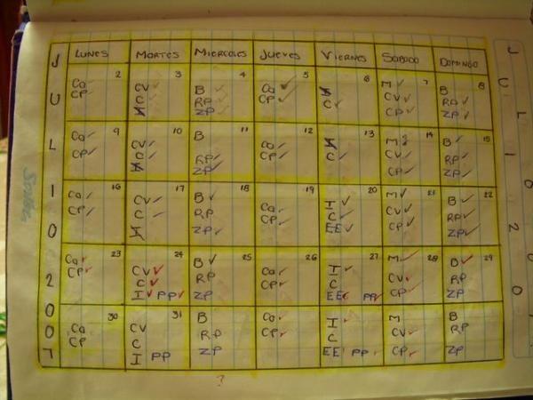 Calendario Aditivos