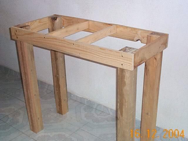 Como hice mi mesa para un 200 lts resumen club acuarios - Como hacer patas de madera para mesas ...